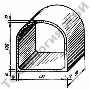 Элемент У-1 изготовленный на виброформе