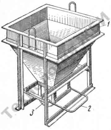 бадья-бункер для бетонной смеси