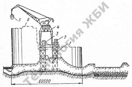 1 — бетоновозная эстакада. 2